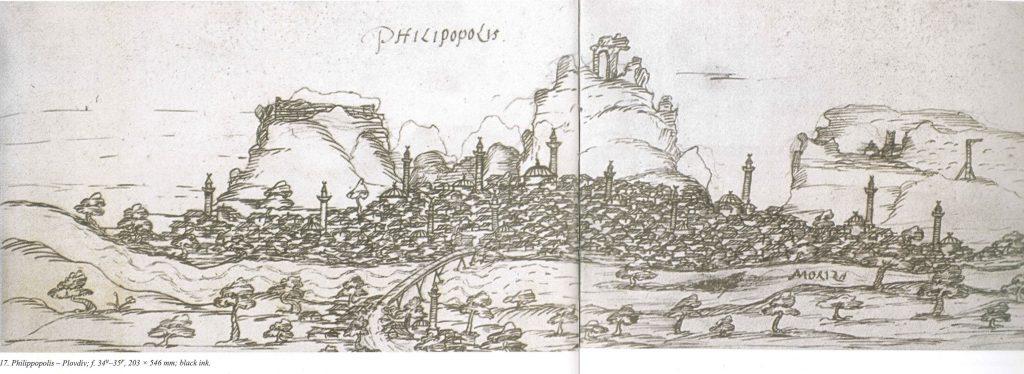 Plovdiv, 16th c. sketch