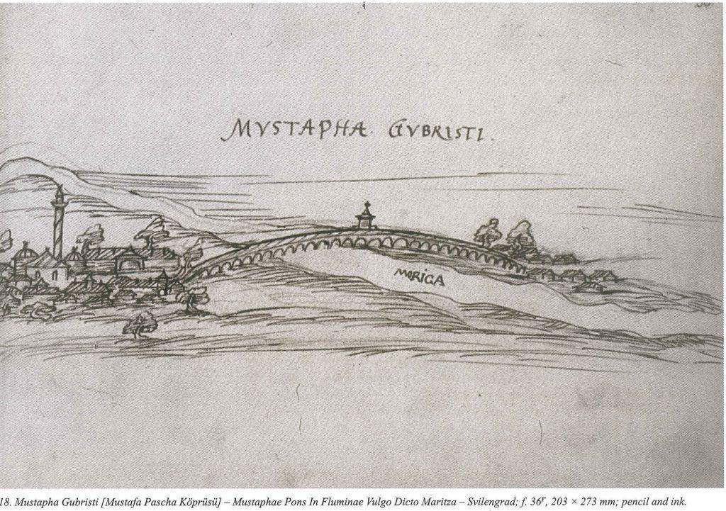 Mustafa Pasha bridge, 16th c. sketch